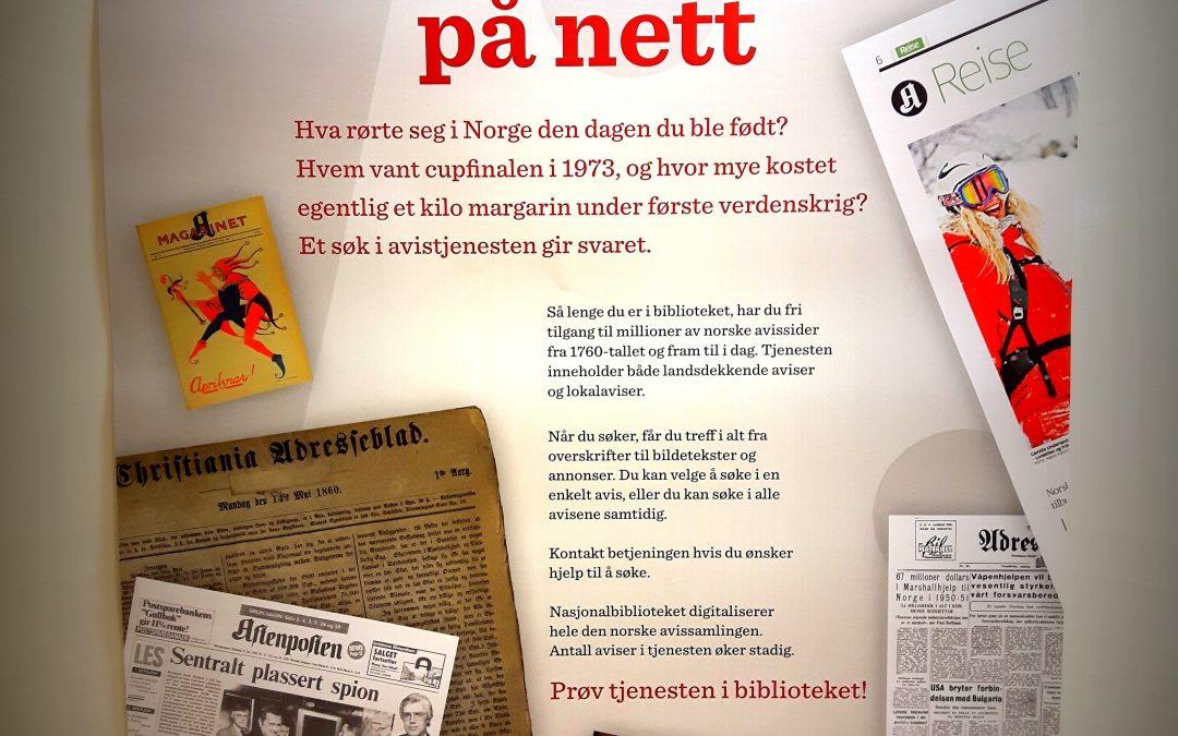 Nå kan du lese gamle aviser hos oss